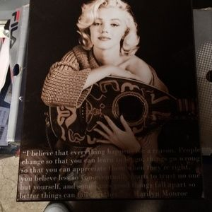 Marilyn Monroe quoted plaque